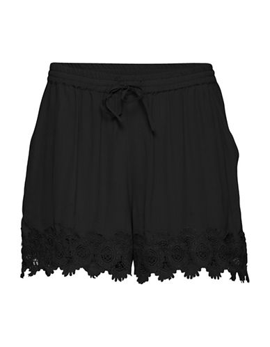 B. Young Juta Lace Shorts-BLACK-38