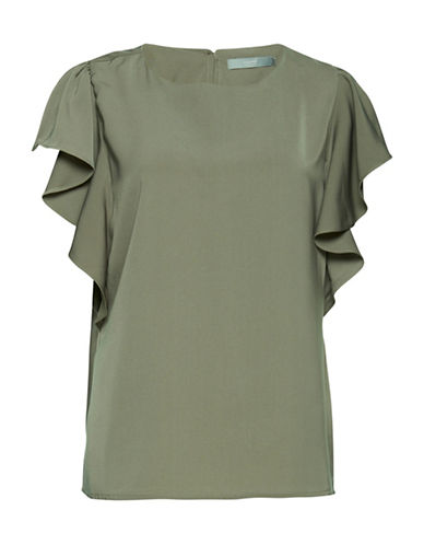 B. Young Hellie Blouse-GREEN-38
