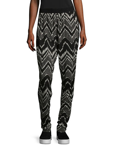 B. Young Smila Stripe Sweatpants-ASSORTED-Large