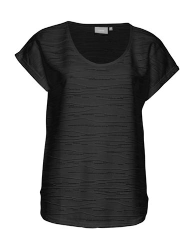 B. Young Rukki Textured Tee-BLACK-Small
