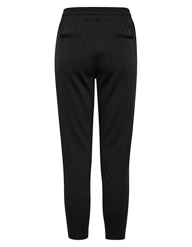 Ichi Kate Drawstring Cropped Pants-BLACK-Small