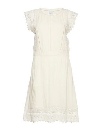 Ichi Nepal Crochet Dress-BIRCH-36