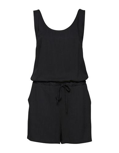 Ichi Rola Drawstring Jumpsuit-BLACK-40