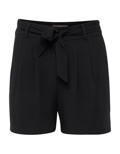 Ichi Rola Belted Shorts-BLACK-36