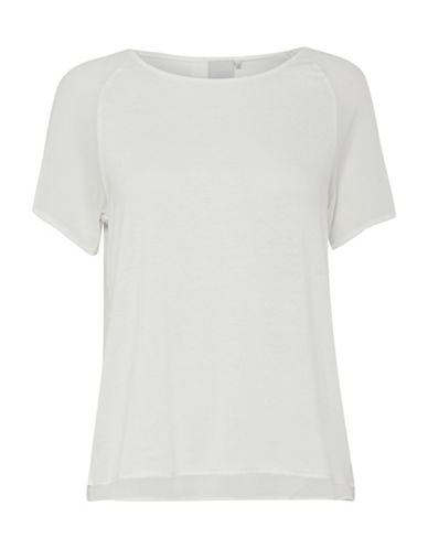 Ichi Luzza Split-Back Layered Tee-WHITE-Large 89348843_WHITE_Large