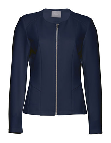 B. Young Tenima Zip-Front Jacket-BLUE-X-Small 89270252_BLUE_X-Small