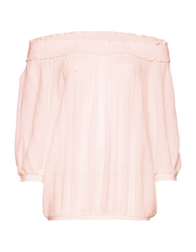B. Young Iras Off-the-Shoulder Top-PINK-38