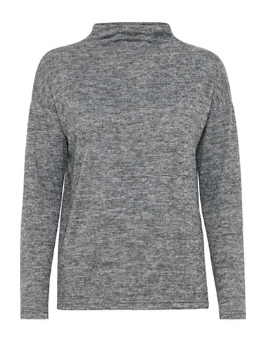 Ichi Linea Soft Pullover-GREY-Medium