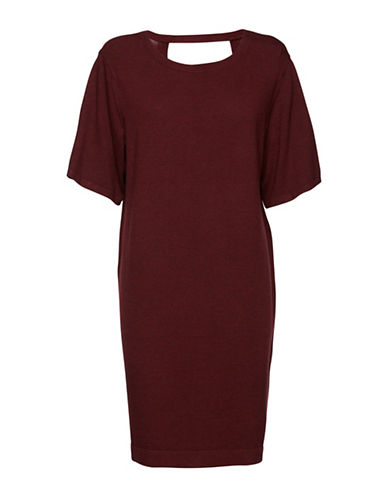 B. Young Pimba Shift Dress-RED-Small