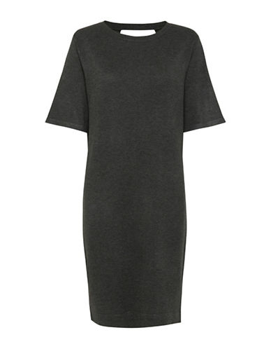 B. Young Pimba Shift Dress-GREY-Small