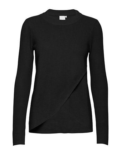 Ichi Mita Rib-Knit Pullover-BLACK-Small 89497818_BLACK_Small