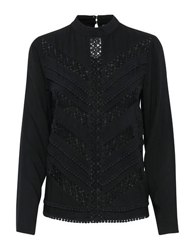 Ichi Cecily Blouse-BLACK-40