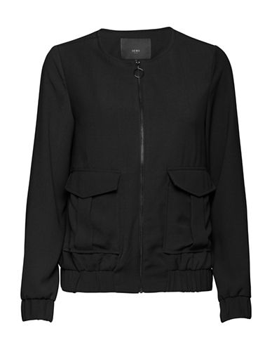 Ichi Front Pocket Bomber-BLACK-X-Small