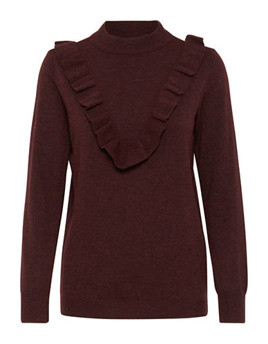 B. Young Moco Ruffle Jumper-RED-Medium