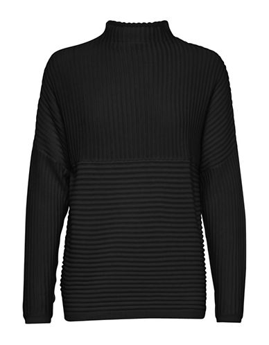 B. Young Nadio Textured Pullover-BLACK-X-Small