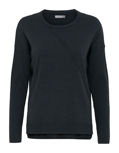 B. Young Myndia Asymmetrical Pullover-BLUE-X-Small