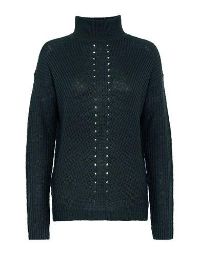 B. Young Narina Knit Turtleneck Sweater-BLUE-X-Small