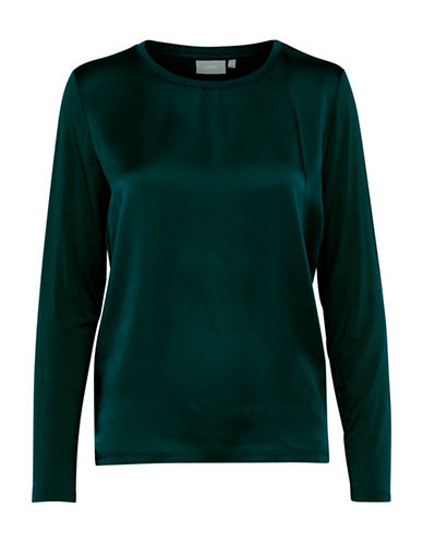 B. Young Sevia Multi-Media Blouse-DEEP TEAL-X-Small