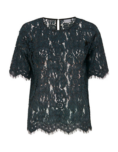 B. Young Higia Lace Top-TEAL-36