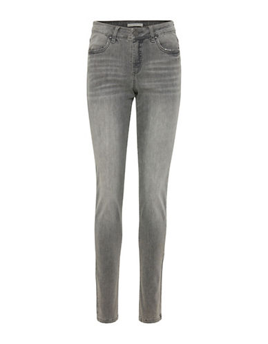 B. Young Lola Distressed Jeans-GREY-25
