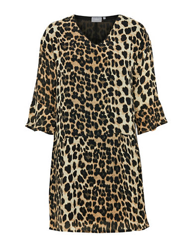 B. Young Hemiso Cheetah Shift Dress-COMBO-34