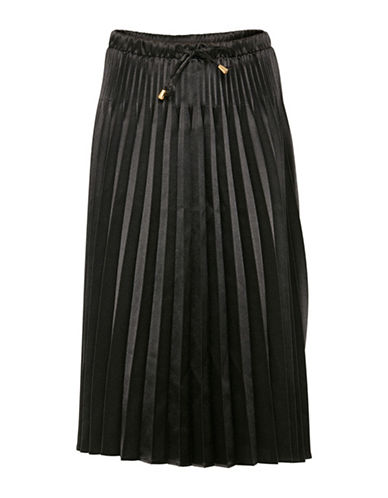 B. Young Fanto Pleated Midi Skirt-BLACK-34