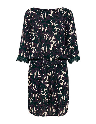 B. Young Hafina Printed Blouson Dress-COMBO-40