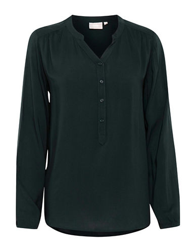 B. Young Imillo Buttoned Top-DEEP TEAL-34