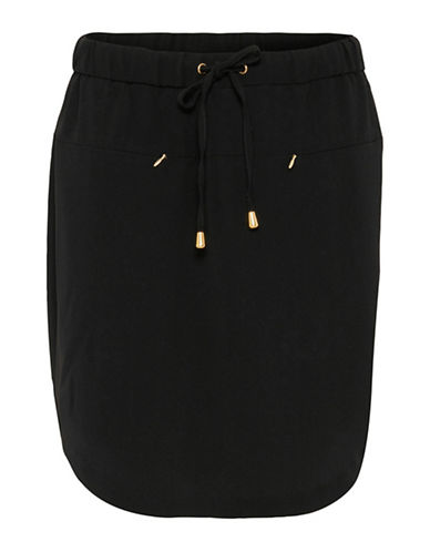 B. Young Filippo Tie-Waist Skirt-BLACK-38
