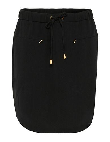 B. Young Filippo Tie-Waist Skirt-BLACK-40
