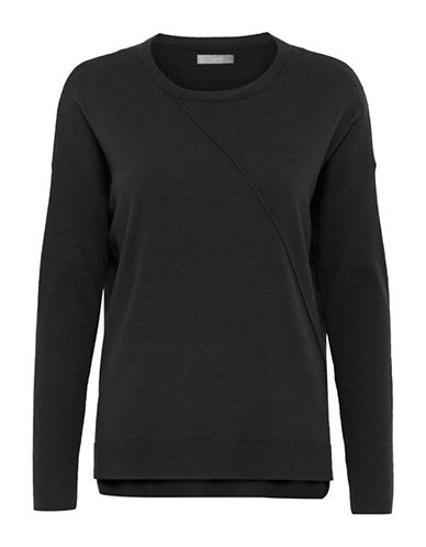 B. Young Myndia Asymmetrical Pullover-GREY-Medium
