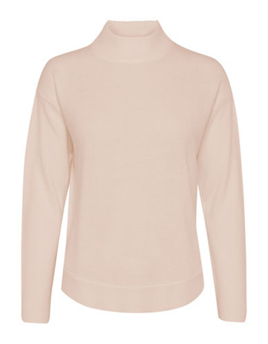 B. Young Male Drop-Shoulder Turtleneck-PINK-X-Small
