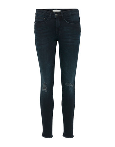 Ichi Distressed Jeans-BLUE-30