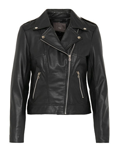 Ichi Salva Leather Jacket-BLACK-36