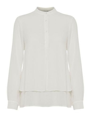 Ichi Akua Buttoned Blouse-WHITE-34