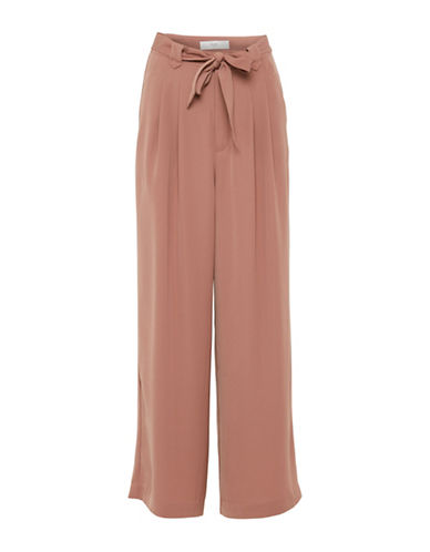 Ichi Self-Tie Culottes Pants-NATURAL-36