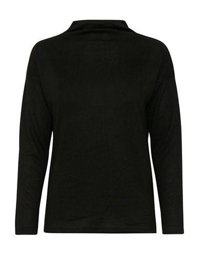 Ichi Linea Soft Pullover-BLACK-Large