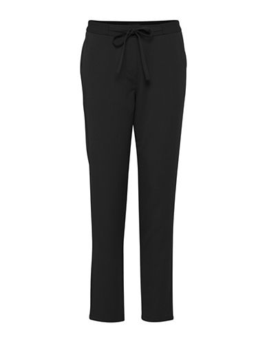 Ichi Simona Straight Pants-BLACK-X-Small