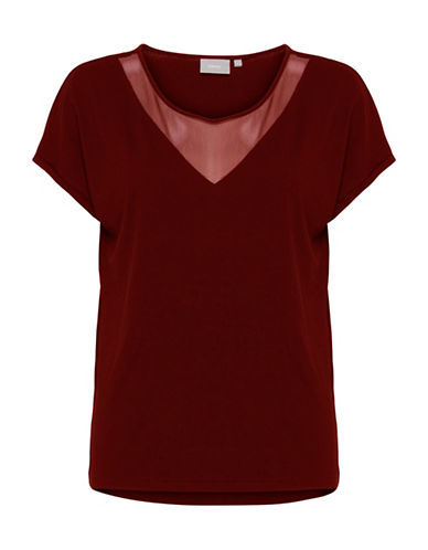 B. Young Temma Blouse-RED-X-Small