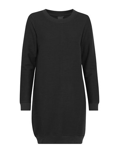 Ichi Suna Sweater Dress-BLACK-Large