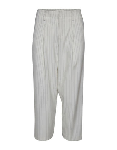 Ichi Fliza Stripe Pants-WHITE-34