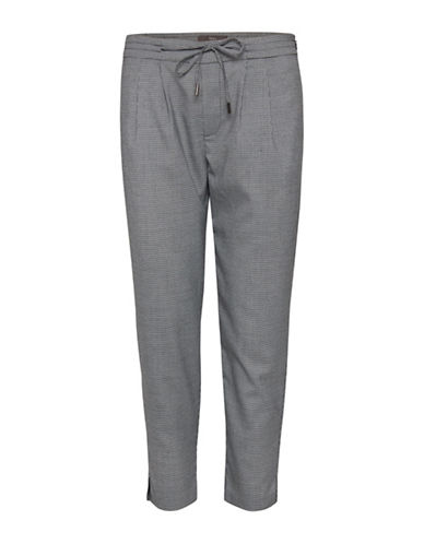 Ichi Flano Printed Pants-GREY-Large 89940369_GREY_Large