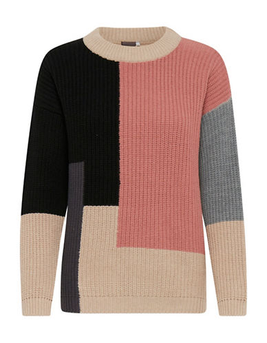 Ichi Colourblocking Sweater-MULTI-Medium
