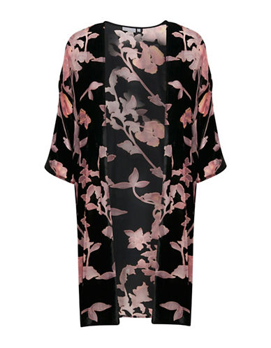 B. Young Ivianna Floral Kimono-BLACK-46