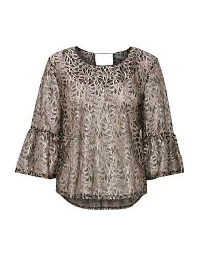 B. Young Ilsanna Bell-Sleeve Blouse-GOLD-42