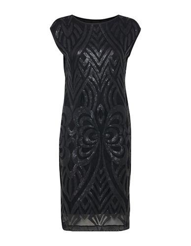 B. Young Ilvira Sequined Sheath Dress-BLACK-34