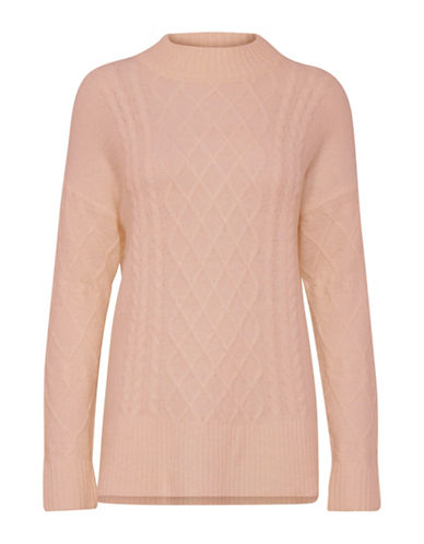 B. Young Opas Cable-Knit Pullover-PINK-Large
