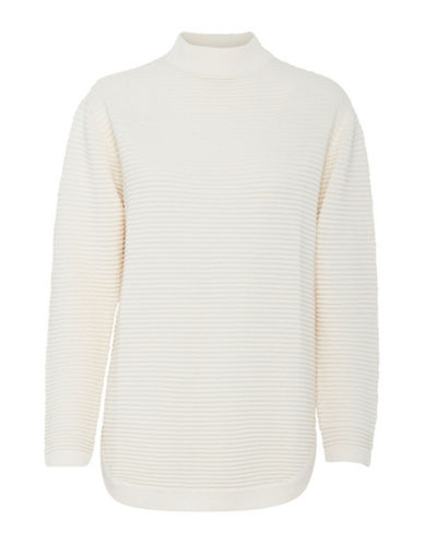 B. Young Makio Textured Turtleneck-WHITE-Small