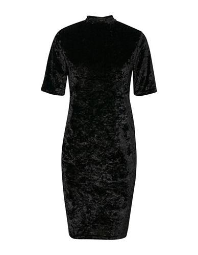 B. Young Ramyra Velour Shift Dress-BLACK-Medium