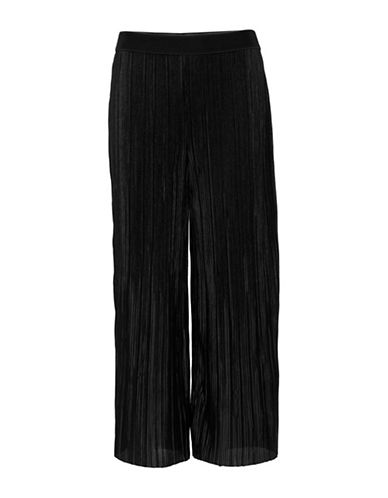 B. Young Terra Pleated Culottes-BLACK-Large